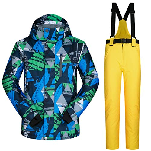 MEOBHI ski pak Mannen Ski Suit Merken Winddicht Waterdicht Warm Outdoor Sport Ski Jas En Sneeuwbroek Sets Winter Skiën En Snowboarden Suits