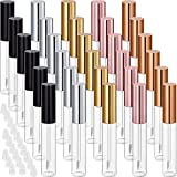 30 Piece Lip Gloss Tube Empty Refillable Lip Balm Bottle Clear Plastic Lip Gloss Container Reusable Lipstick Bottle with Rubber Insert for Lipstick (10 ml, Assorted Colors)