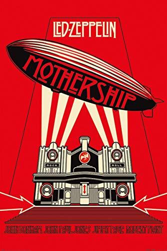 Led Zeppelin Mothership Unisex Poster Multicolor Papier 61 x 91,5 cm Band-Merch, Bands
