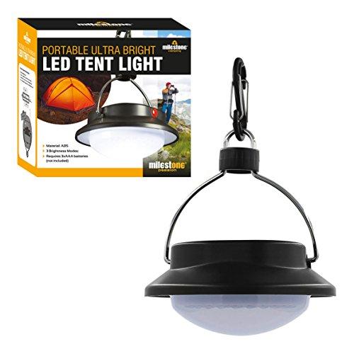 Milestone Camping Portable Ultra Bright 60 LED Tent Lampe Mixte, Noir, Taille Unique