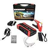 12-Volt Portable Car Jump Starter, 28000mAh Auto Lithium Ion Battery Booster with Quick Charge, Type-C Port, and LED ,Home Backup Power, Car Emergency