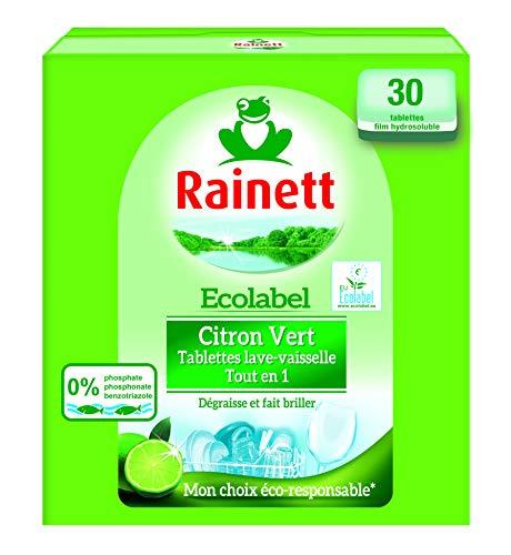 Rainett Tablettes lave-vaisselle Tout en 1 au citron vert - La boîte de 30, 600g