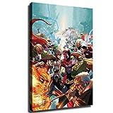 YuHui The X-Men - Pster de lienzo y decoracin de pared, Enmarcado, 12x18inch