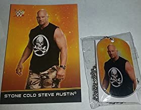 2015 WWE DOG TAGS - STONE COLD STEVE AUSTIN #29 - CARD & DOG TAG