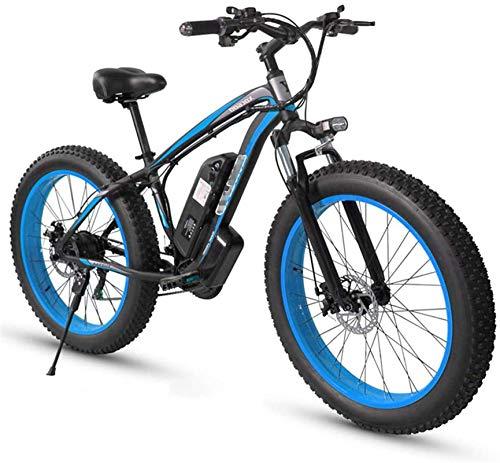 RDJM Bici electrica Bicicleta eléctrica for adultos, 350W aleación de aluminio de E-bici de montaña, 21 Engranajes velocidad completa suspensión de la bici, conveniente for Hombres Mujeres Ciudad de t