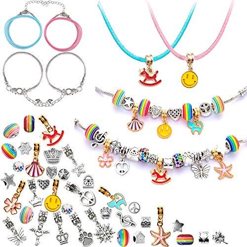 YUNLI - Set di braccialetti per bambine da 8 a 12 anni, con charm, per braccialetti dell'amicizia, per bambini