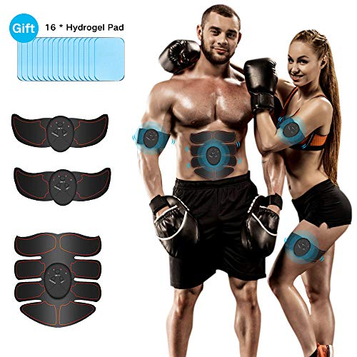 Abs Stimulator, iThrough Professional Muscle Toner for Men & Women - Losing Weight & Building Muscle - Portable Abs Trainer for Abdomen, Waist, Arms, Thighs, Calves, etc