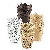 solawill Tazas de papel para muffins, 200 unidades de moldes de papel para hornear, Taza de papel para hornear cupcakes, para magdalenas, magdalenas, para bodas, cumpleaños, baby showers