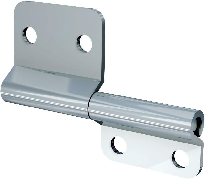 TCH Hardware 10 Pack Steel Small Slip Joint Flag Hinge Lift Off Left Handed Zinc Plated Lid Door