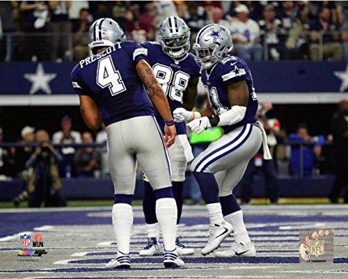 Dak Prescott, Dez Bryant, Ezekiel Elliott Dallas Cowboys Action Photo (Size: 8' x 10')