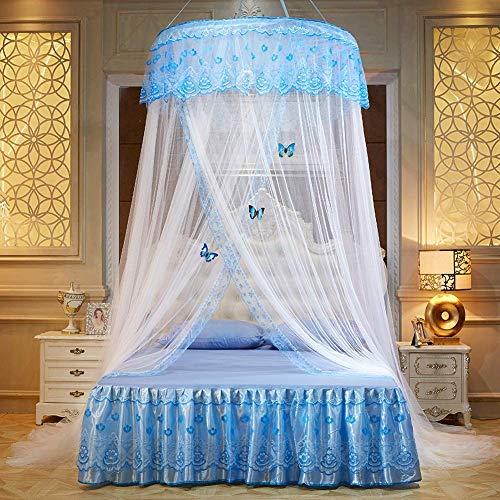 Bed luifel ronde koepel muggennet tent eenpersoons tweepersoonsbed hangmatten wieg kamer decoratie 2M Kleur: wit