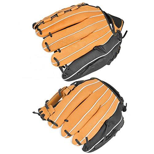 WQSNUB Guantes de béisbol Infielder Pitcher Catcher Thicken PU Guantes de Cuero Niños Adultos Equipo de práctica de softbol 11.5in / 12.5in