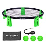 GoSports SLAMMO PRO Game Set - New and Improved PRO Set with 3 PRO Balls, Pump and Carrying Case, Green