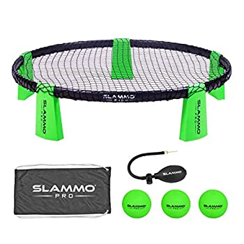 GoSports SLAMMO PRO Game Set - New and Improved PRO Set with 3 PRO Balls Pump and Carrying Case