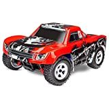 Traxxas 76064-5 - LaTrax Desert Prerunner 1/18 4x4 Waterproof Truck RTR, Red Features: Chassis: Molded composite nylon monocoque Drive: Shaft, four-wheel drive for maximum traction with an aluminum center driveshaft Transmission: 10T Pinion / 60T Spu...
