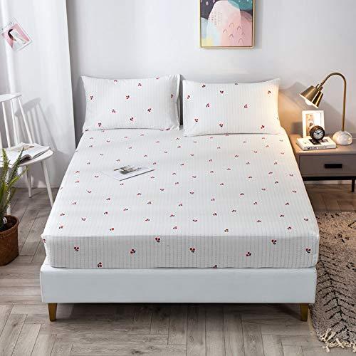 IKITOBI Sábana bajera ajustable para cama doble, suave, cómoda, lavable a máquina, transpirable, 120 x 200+30 cm