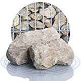 Schicker Mineral Kalk Gabionensteine beige 25 kg, Bruchsteine in Verschiedene Körnnungen, Steine als Füllmaterial für Ihre Gabionen, zur Gartendeko (60-120 mm)