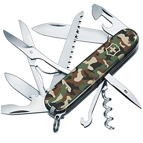 Victorinox Taschenmesser Huntsman (15 Funktionen, Schere, Holzsäge, Korkenzieher) camouflage