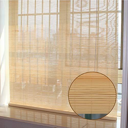 JLXJ Bambusrollo Fenstertür Bambus Rollo, 55cm / 75cm / 95cm / 115cm / 135cm / 155cm Breit, 80% Stromausfall, Für Außenküche Pergola Balkon (Size : 75×180cm)