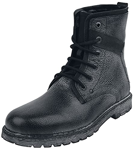 Black Premium by EMP Road Man Homme Bottes de Motard Noir EU47, Cuir, Regular/Coupe Standard