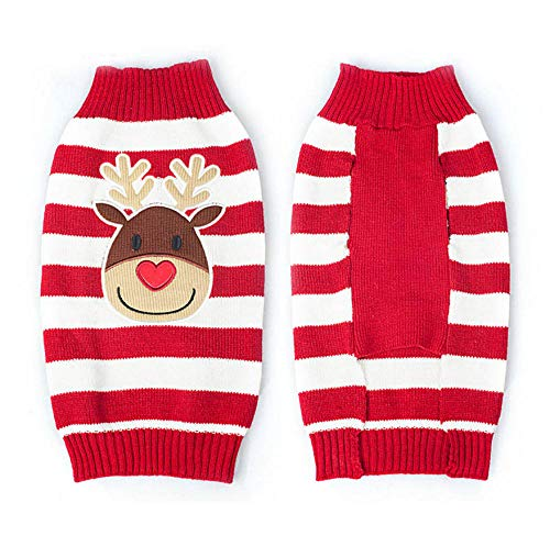 MUXIAND Holiday Hond Sweater Reindeer Huisdier Kerst Sweater Nieuwjaar Kerstmis Gebreide Hond Kleding Shirt Vest Geschikt voor Kleine Honden En Katten, S