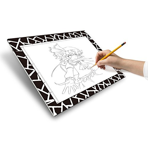 """Litup Kids Light Box Ultra Thin Mini Size A5 9.8""""×7.64"""" LED Artcraft Tracing Light Pad Artists Drawing Light Board for Sketching Animation Designing Stencilling - LPS5"""