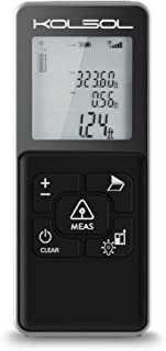 KOLSOL K100 Laser Distance Meter 100m/328ft/3937inch with integrated cross projection LCD Backlit Display Measure Distance,Area and Volume,Pythagorean Mode Range Finder