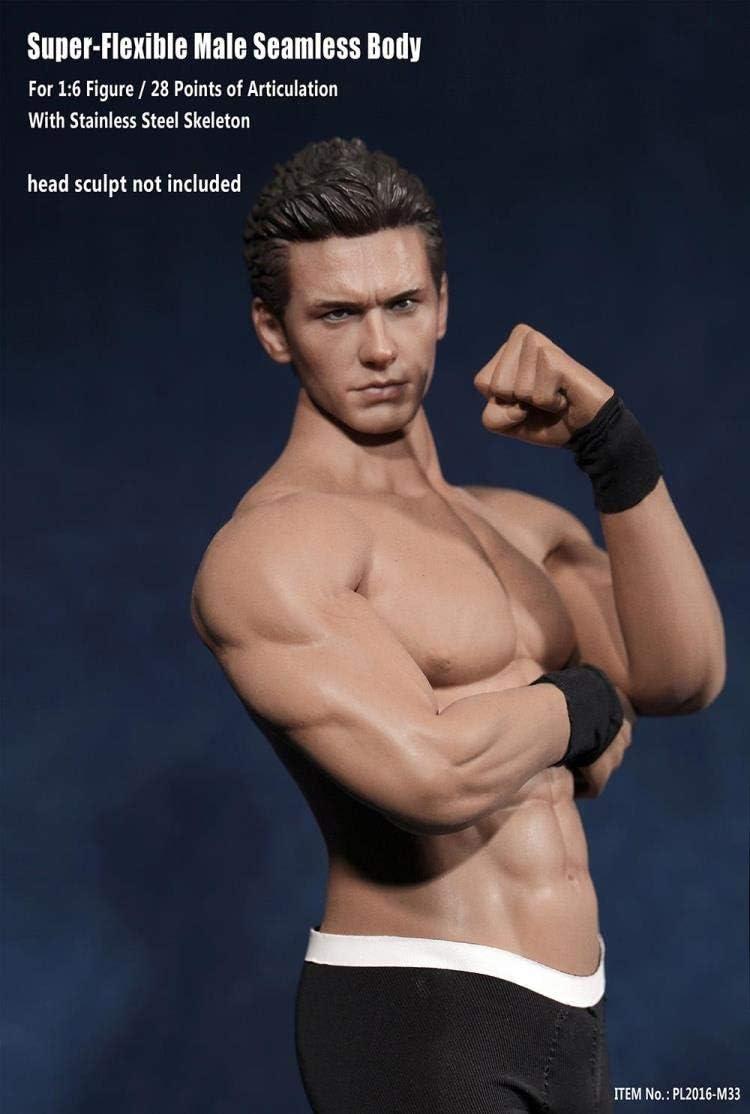"Strong 1//6 Seamless Muscular Male Body 12/"" Figure Doll for Phicen TBLeague Head"