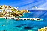Kreta Stadt Küste Griechenland XXL Wandbild Kunstdruck