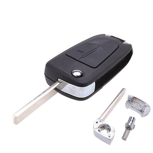 KaTur - Mando a distancia plegable con dos botones para la llave de un coche Opel