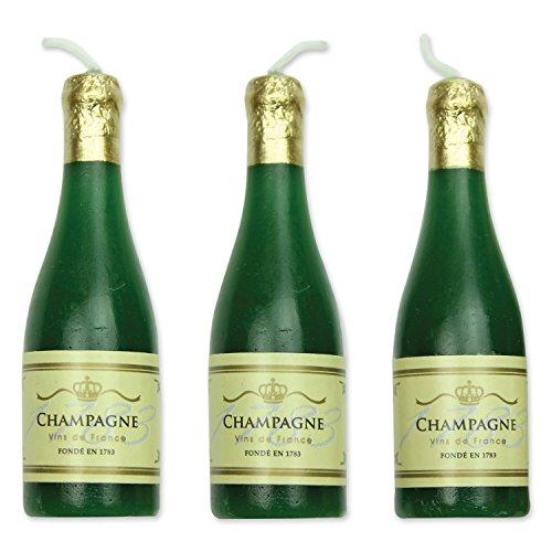 PME CA002 Champagner-Kerzen, Sortiment, 6-teilig, Kunststoff, Multicolored, 1.5 x 1.5 x 5.3 cm