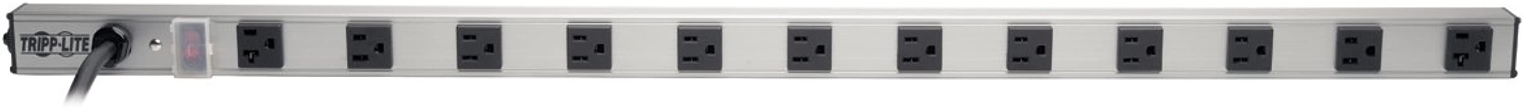 Tripp Lite 12 Outlet Surge Protector Power Strip, 15ft Long Cord, Metal, (SS361220)