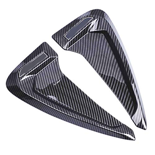 DunMenEn Emblema Universal para BMW F20 F30 F10 E36 E39 E60 E90 Audi A3 A4 B8 B6 8P Vent de ventilación con ventilación Pegatina de Coche Accesorios Decorativos DunMenEn (Color Name : Carbon Fiber)