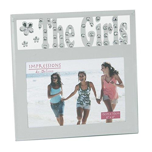Juliana Le Miroir Girls & Cadre Photo en Cristal avec des Lettres découpées