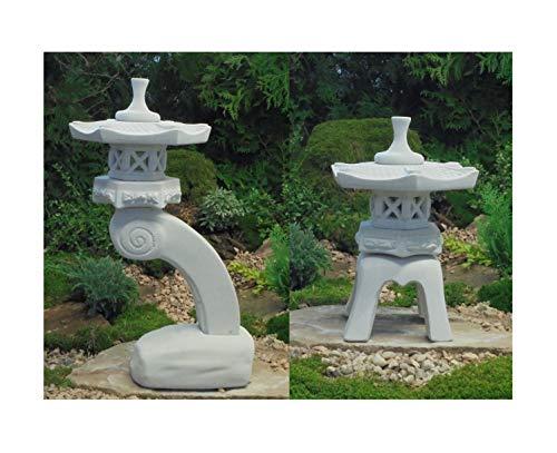 Japanische Steinlaternen Rankei & Yukimi Garten Laterne Koi Teich .2 Stück!!!
