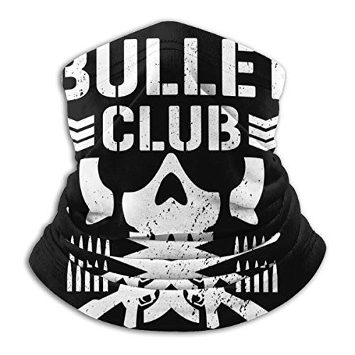 Bullet Club Fleece Neck Warmer Windproof Winter Neck Gaiter Cold Weather Face Mask For Men Women