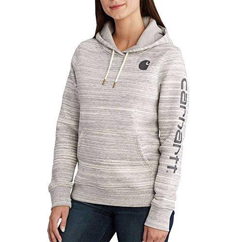 Carhartt Clarksburg Graphic Sleeve Pullover Sweatshirt Sudadera, Deep Shadow Space Dye, XL para Mujer