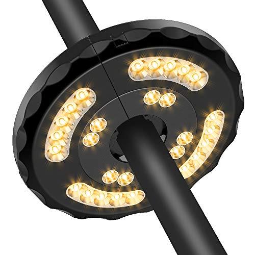 Lampada Ombrellone da Giardino Wireless Ricaricabile USB con 28 LED, 2 Modalità di Illuminazione, Durata: 18-54 ore, Luci per Ombrellone da Giardino Esterno Terrazzo Balcone