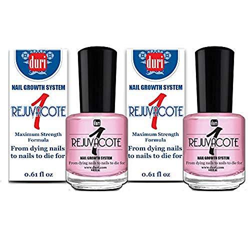 duri Rejuvacote 1 Original Maximum Strength Nail Growth System, Base and Top Coat, 2 pack, 0.61 fl.oz. each