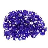 Fenteer 50g Perles Verre Fusible Verre Millefiori Breloques Pendentifs pour Boucles d'oreilles Collier Bracelets - Bleu
