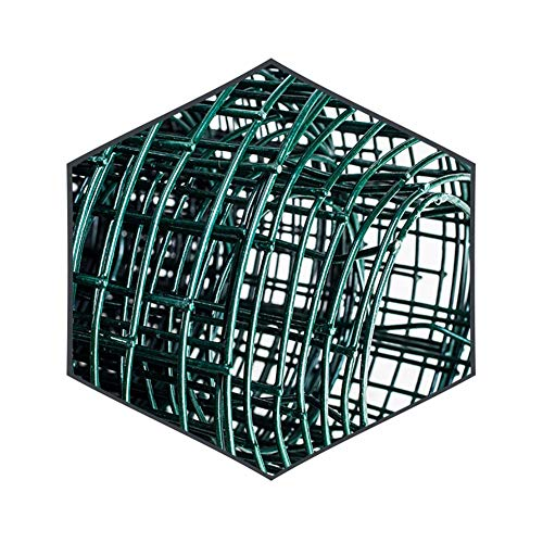 LJIANW Plastic Fencing, Chicken Wire Net, Green PVC Coated Galvanised Steel Wire Garden Fencing Roll–30m Mesh Hole Spacing 6cm X 6cm (Color : 2.5mm, Size : 1.2x30m)