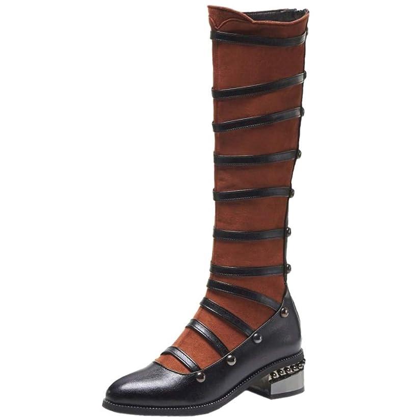 居心地の良い信仰所持[Unm] レディーズ ファッション ローヒール長いです ブーツ ジッパー