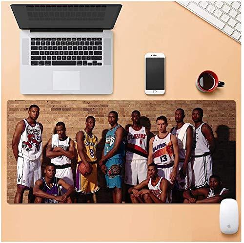 ZDVHM Estesa Gaming Mouse Pad NBA Basketball Oversize Tastiera Tappetino Mouse Impermeabile Antiscivolo Gioco Mousepad Cafe Mats for Office Home PC da Tavolo Desktop Pad Mouse