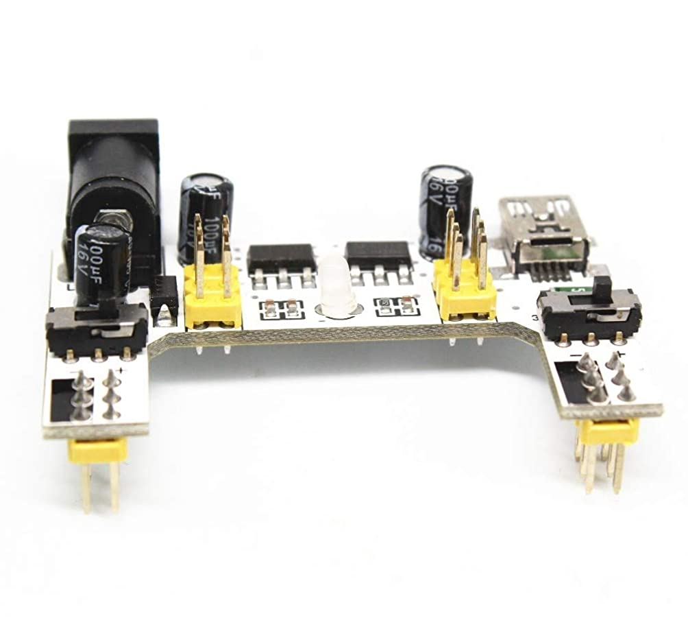毛布モック故意のWillBest 20PCS Special power module for MB-102 bread Board 2-Way Bread Board module compatible 5V/3.3V DC voltage Regulator module