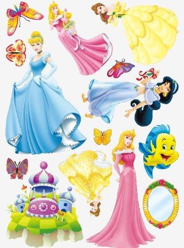 Enfants Stickers MURAUX Grand Disney Mickey Mouse Minnie Autocollants Filles Chambre DE Mur Chambre Decor Décoration Sticker Adhesif Mural Géant Répositionnable (Princess, 70 x 50)