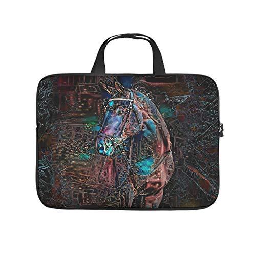 Funda para portátil con diseño abstracto de caballo de doble cara, impermeable, de neopreno, funda para tablet, para amigos o novias