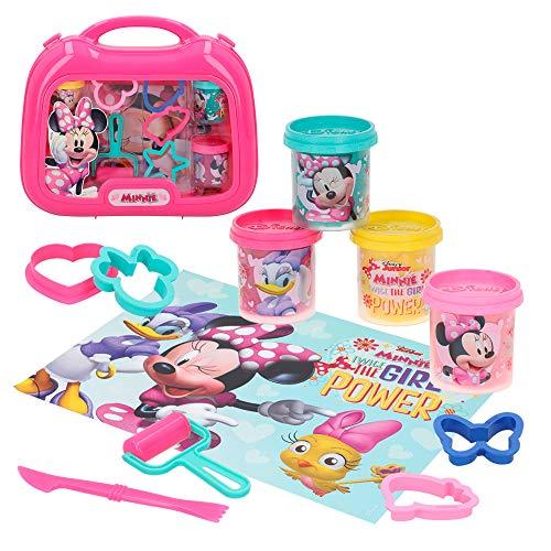 Disney 77185 Minnie-Knetset mit 4 Dosen à 57 g Zubehör und Matte