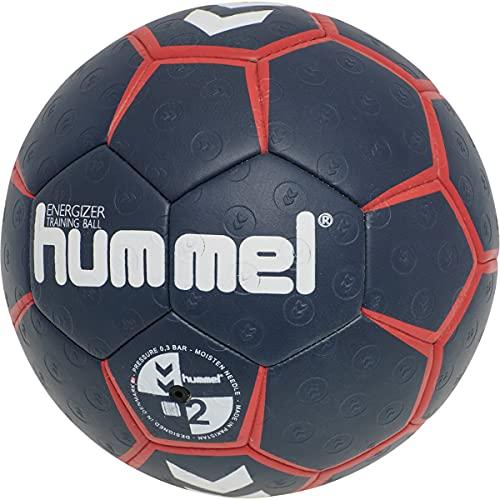 hummel Unisex-Adult Hmlenergizer Hb Handball, Black IRIS/Flame Scarlet, 2