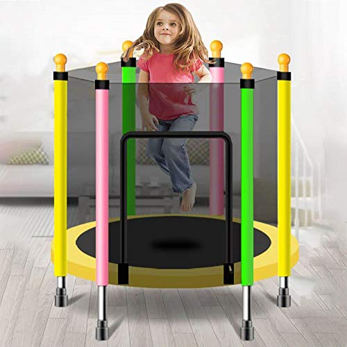 Foldable Children's Trampoline with Safety Enclosure Net Spring Pad, Maximum Load 200Kg