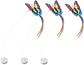 Zenes Funny Cat Toy Butterfly - Electric Flutter Rotating Butterfly, Cat Teaser Toy with Two Replacement